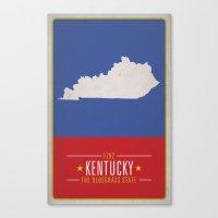kentucky Canvas Prints featuring KENTUCKY by Matthew Justin Rupp