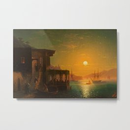 Constantinople Sunset by Ivan Aivazovsky Metal Print