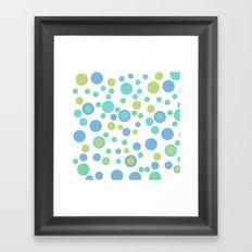 Circular Pastel Vector Framed Art Print