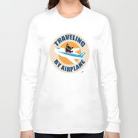 airplane Long Sleeve T-shirts featuring Airplane by BATKEI