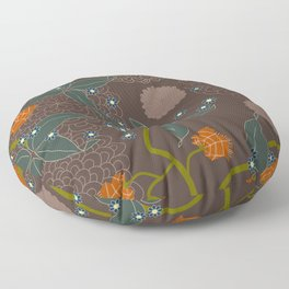 jungle delights chocolate Floor Pillow