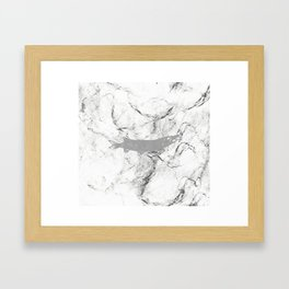 pike in the net (black and white) Framed Art Print