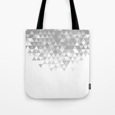 Black And White Triangles Pattern Tote Bag
