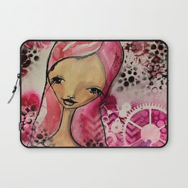 smelling the flowers Laptop Sleeve