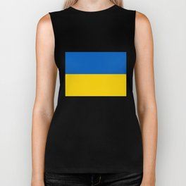 National flag of Ukraine, Authentic version (to scale and color) Biker Tank