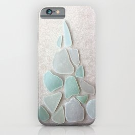 Sea Foam Sea Glass Christmas Tree #Christmas #seaglass iPhone Case