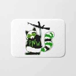 PNW Rebel Raccoon AK47 Bath Mat