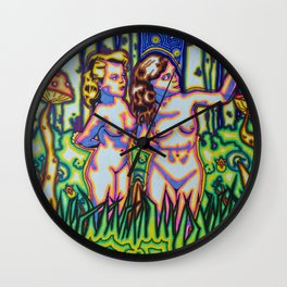 Psychedelic Chicks Wall Clock