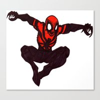 carnage Canvas Prints featuring Carnage Suit by Daniel Pearson