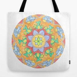 Mandala Dragons Tote Bag