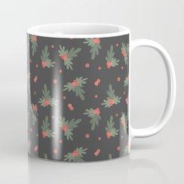 Christmas Mistletoe On Black Decor Coffee Mug
