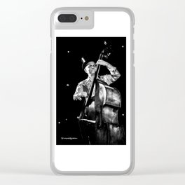 The old contrabass player Clear iPhone Case