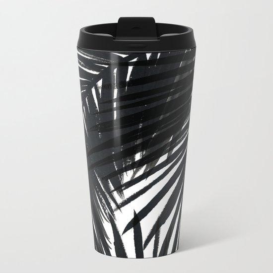 Palms Black Metal Travel Mug
