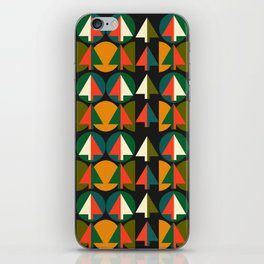Retro Christmas trees iPhone Skin