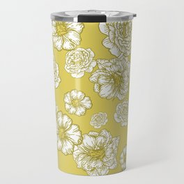 Yellow Floral Travel Mug
