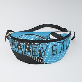 Volleyball Sport Game - Net - Baby Blue Fanny Pack
