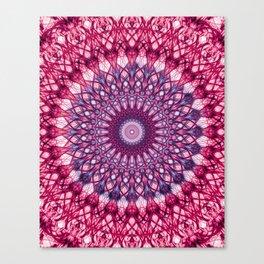 Pink and violet mandala Canvas Print