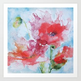 Poppies 04 Art Print