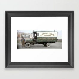 Bowman's Storage Truck, Vancouver, BC c.1918 Framed Art Print