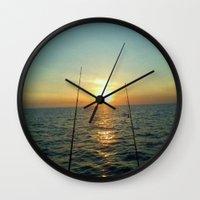 fishing Wall Clocks featuring FISHING by aztosaha