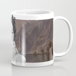 DELILAH (background : Albert Bierstadt - Lake Tahoe (1868)) Coffee Mug