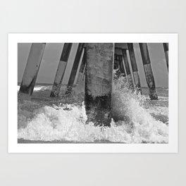 Pier View B/W Art Print