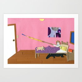 Alligators Under the Bed Art Print