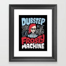 Frosty Dubstep Framed Art Print