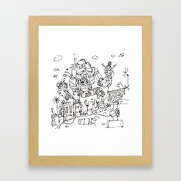 """Arkhamfall"" lineart (Farts 'N' Crafts episode 2) Framed Art Print"