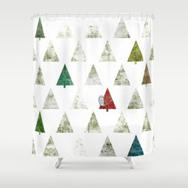 083 - Happy Owly found its winter home Shower Curtain