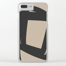 Neutral Abstract 4A Clear iPhone Case