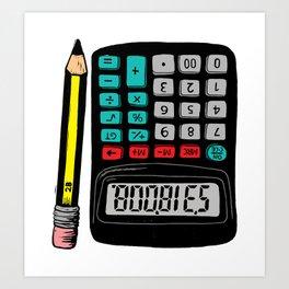 Rude Calculator Art Print