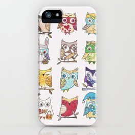 monthly owls iPhone Case
