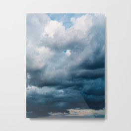 Rain Storm Clouds Gathering On Sky, Stormy Sky, Infinity Metal Print