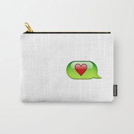 Emoji heart conversation case Carry-All Pouch
