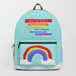 Ephesians 2:10 (Rainbow) Backpack