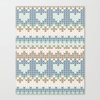 knitting Canvas Prints featuring knitting by alisblack