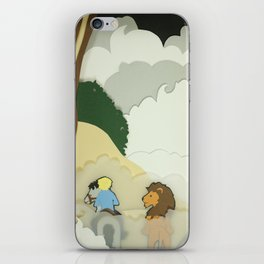 Great Lion in the Fog iPhone Skin