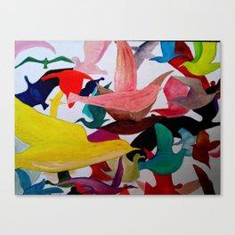Pájaros Canvas Print
