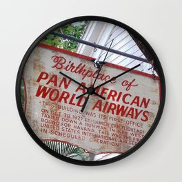 Historic Airlines Sign Wall Clock
