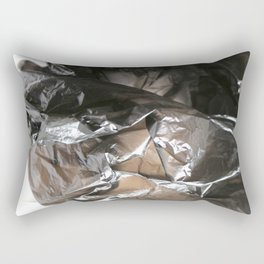 black plastic 04 Rectangular Pillow
