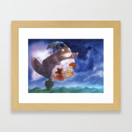 Totoro - fan art Framed Art Print