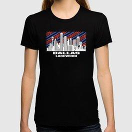 Dallas Lakewood Texas Skyline T-shirt