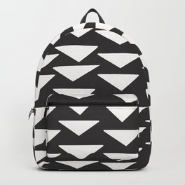 7-1010-0n-P1, White rounded triangles, big size, Backpack