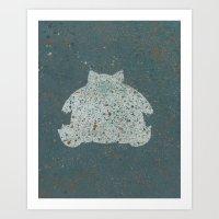 snorlax Art Prints featuring Snorlax Pkmn by Herk Designs