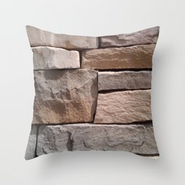 Artisan Masonry Stone Wall - Corbin Henry Throw Pillow
