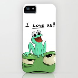 I Love Us iPhone Case