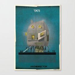 011_ARCHIDIRECTOR_Jacques Tati Canvas Print