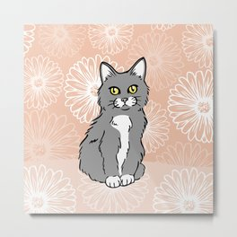 Just Peachy Kitten Metal Print