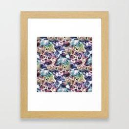 Colorful Whisperly Fragments Framed Art Print